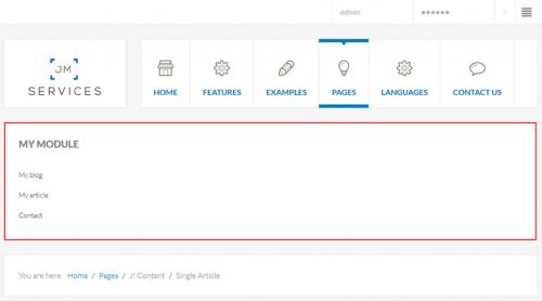 Як зробити меню в Joomla?