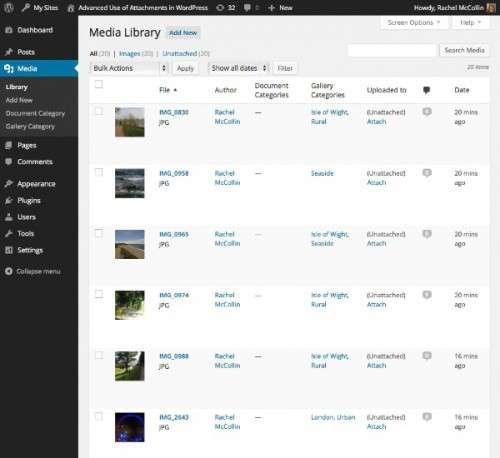 Розширене використання вкладень WordPress: Призначення термінів категорій і таксономії для вложени
