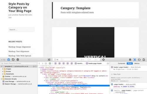 Як WordPress за допомогою CSS задати різні стилі для різних категорій