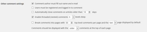 Як відключити коментарі в WordPpress?