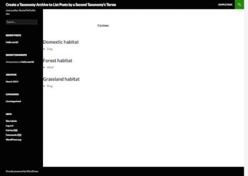 Архіви класифікацій: Висновок список записів таксономії по термінам другий таксономії