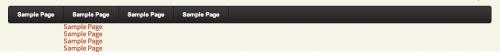Випадаюче меню для WordPress на CSS