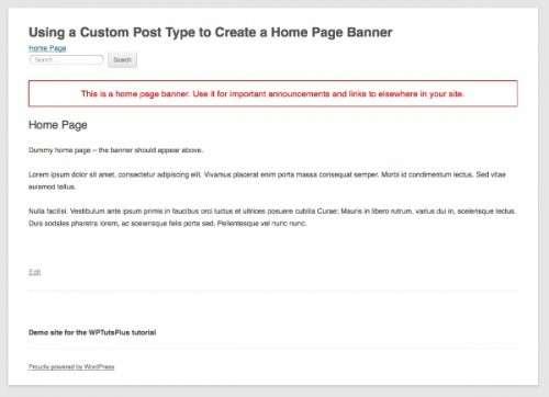 Використання користувальницького типу запису для створення банера головної сторінки