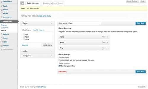 Створюємо тему WordPress на базі статичного HTML: Додаємо меню навігації