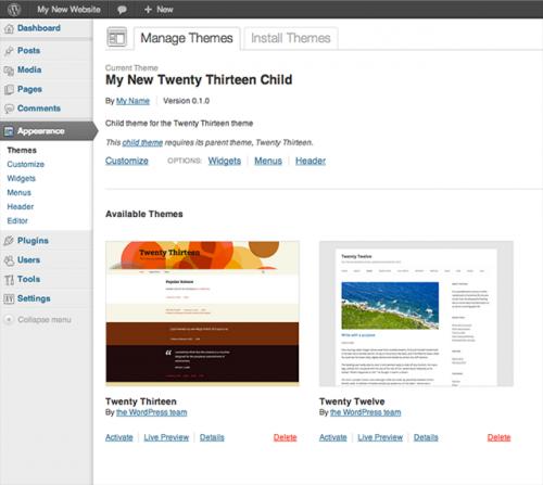 Початок роботи з WordPress: підготовка до створення вашої власної теми на основі дочірньої