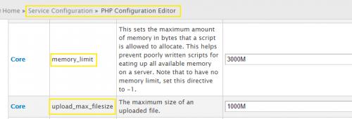 Як збільшити ліміти на розмір завантажуваних файлів і обсяг виділюваної для PHP памяті