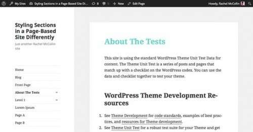 Як задавати стилі для різних розділів сайту на основі статичних сторінок