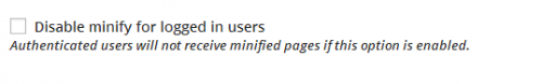 Налаштування плагіна W3 Total Cache: розширені налаштування мінімізації коду