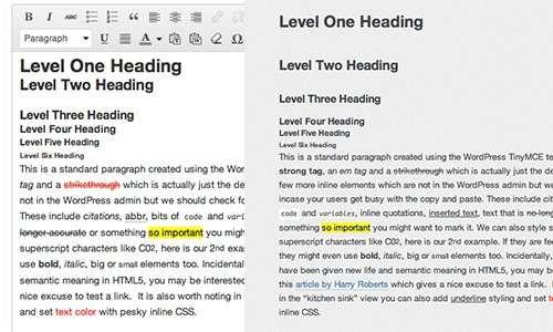 Користувацьке налаштування редактора стилів WordPress