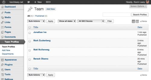 Створення сторінки «Про команді розробників» у WordPress