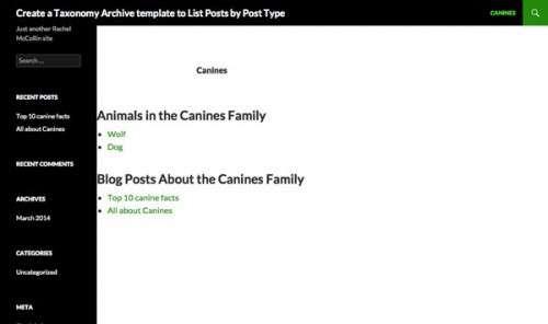 Архіви таксономії: Виведення списку постів за типом запису